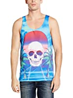Mr. Gugu & Miss Go Camiseta Tirantes Unisex Paradise Skull (Azul)