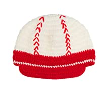 Crochet knit baseball hat by juDanzy (X-Small 0-4 Months)