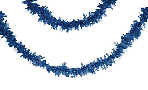originelle 7 5 m lange blaue fransen girlande zum dekorieren. Black Bedroom Furniture Sets. Home Design Ideas