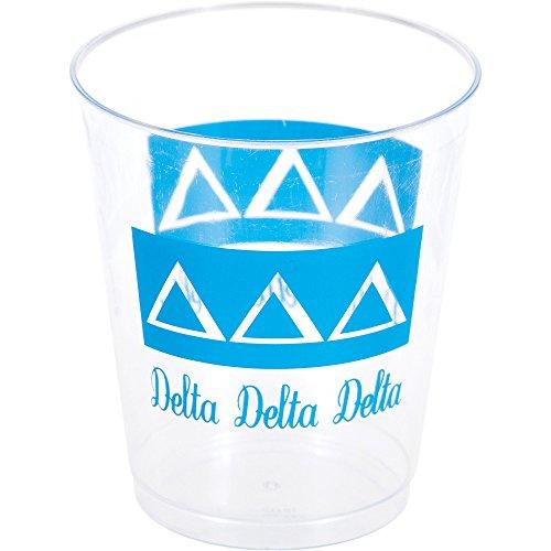 Delta Delta Delta 10oz Plastic Tumblers - 1