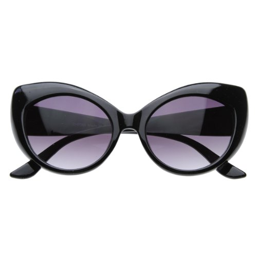 Oversized Vintage Inspired Super & Bold Retro Designer Cat Eye Sunglasses