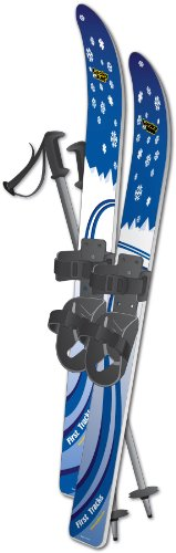 Lucky Bums Kids Beginner Snow Skis and Poles