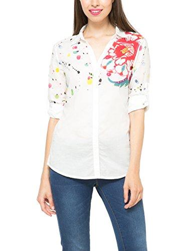 Desigual EL HIERRO-Camicia Donna    Bianco (Bianco 1000) 44