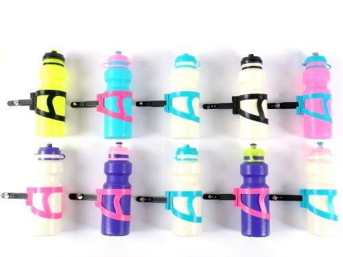 10x-Trinkflasche-Halter-Fahrrad-Fahrradflasche-leicht-bunt-Kinder-Kinderrad