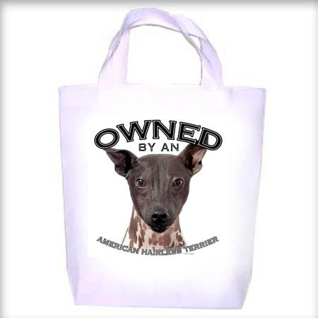 American Hairless Terrier Owned Shopping - Dog Toy - Tote Bag