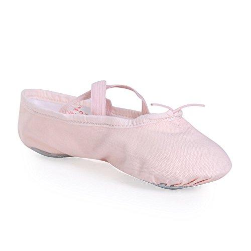 Stelle Girls' Ballet Slipper Dance Shoe Yoga Shoe (Toddler/Little Kid/Big Kid) (11 M Little Kid, Pink) (Pink Ballet Shoes compare prices)