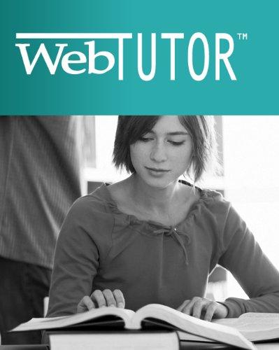 WebTutor(TM) ToolBox on WebCT(TM) Printed Access Card