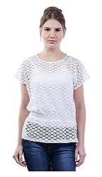 MERCH21 Women's Regular Fit Top (MERCH-378-WHITE, White, M)