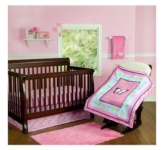 "3 Piece Nursery Set ""Step by Step"" Butterfly/Glitter - 1"