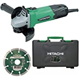 Hitachi G12SS/CD 240 V 115 mm Angle Grinder with Case and Diamond Blade