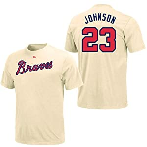 Chris Johnson Atlanta Braves Ivory Player T-Shirt by Majestic by Majestic