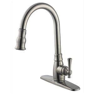 Aqueous 50K8DCBN Luna Kitchen Faucet Single Handle Pull