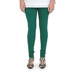 Vami Cotton Churidar Leggings in Mountain Green Color _VM1001(46)
