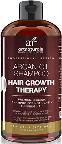 Art-Naturals-Organic-Argan-Oil-Hair-Loss-Shampoo-for-Hair-Regrowth-16-Oz-Sulfate-Free-Best-Treatment-for-Hair-Loss-Thinning-Aging-Product-For-Men-Women-Infused-with-Biotin-2016-Edition