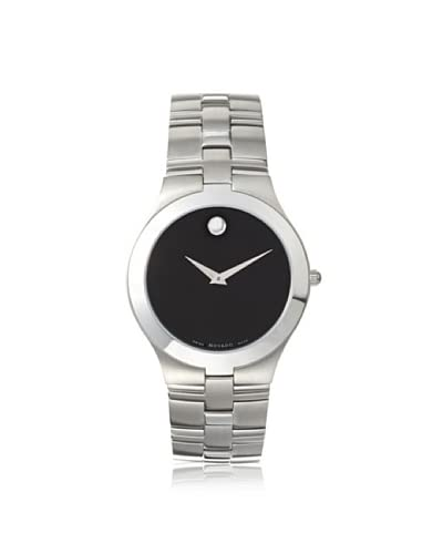 Movado Men's 605023 Juro Silver/Black Stainless Steel Watch