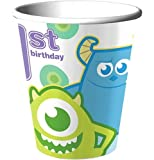 Disney Monsters, Inc. 1st Birthday 9oz. Party Cups 8 Pack