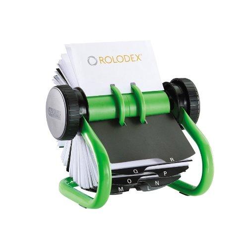 rolodex-s0976440-tarjetero-de-escritorio-rotativo-en-metal-incluye-200-fundas-verde