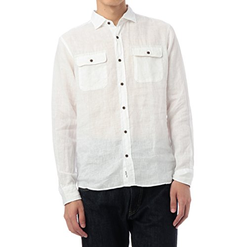 (ボイコット)BOYCOTT リネンカラーシャツ ホワイト(001) 03(L)