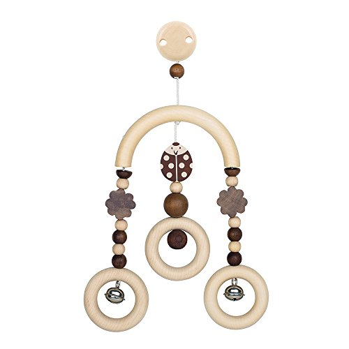 Heimess, Sonaglino in legno con clip per passeggino, Marrone (braun)