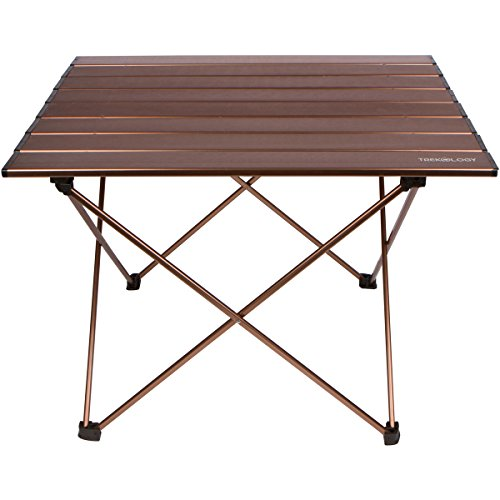 trekology camping table with aluminum table top portable folding table in a bag for beach. Black Bedroom Furniture Sets. Home Design Ideas