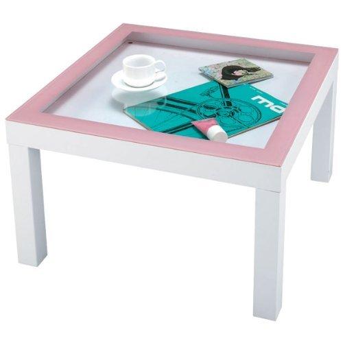 ローテーブル ガラス天板 見せる収納 ナチュラル テイスト チャオ テーブル NET-156PK