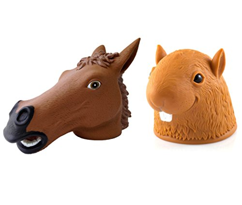 Accoutrements Big Head Squirrel Feeder And Horse Head Squirrel Feeder front-690443
