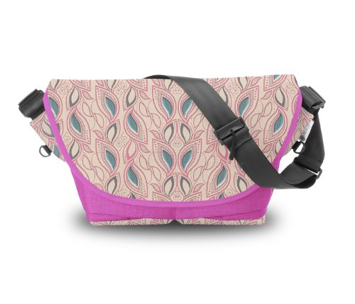 Atrangee Leaf Stalk Messenger Bag (Pink) (multicolor)