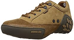 Woodland Mens Camel Leather Sneakers - 5 UK/India (39 EU)