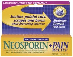 Johnson & Johnson 23708 1oz Pain Relief Protct Neosporin Max Strength +