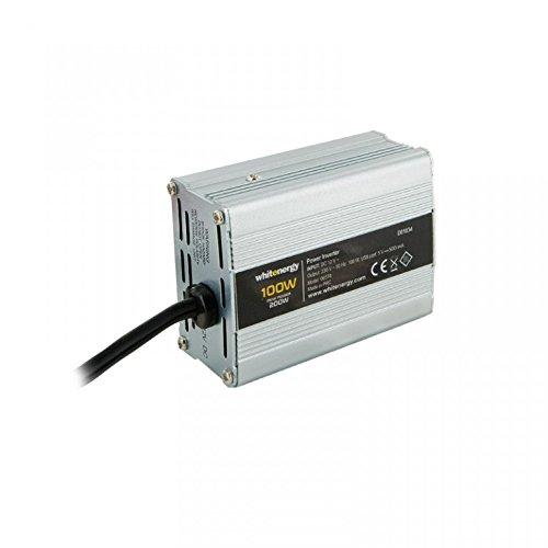 WHITENERGY® Softstart Wechselrichter Auto Spannungswandler 12V auf 230V 100W Dauer / 200W Spitze (modifizierter Sinus) Inverter mit DC 5V USB Port, Output AC 230V, Input DC 12V