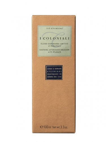 I Coloniali - Soothing Aftershave Emulsion with Rhubarb - 100 ml by J&E Atkinsons