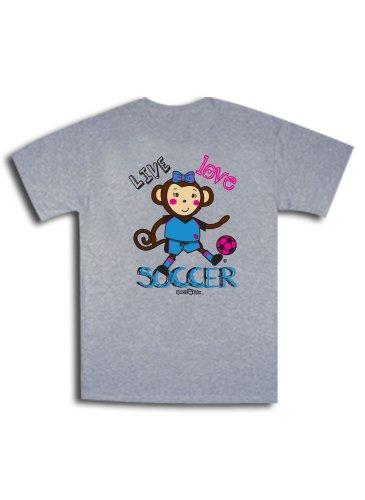 Softball Maisy Monkey Short Sleeve Tee Heather Gray Youth Medium front-808280