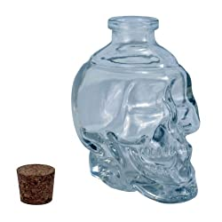 Funny product Fairly Odd Novelties Glass Skull Decanter, 125ml