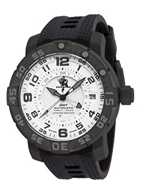 Invicta 14278 Sea Base Automatic GMTLimited Edition Black Titanium White Dial Watch