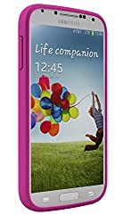 uNu Unity Samsung Galaxy S4 Battery Case [White/Magenta] - External Slim Protective Battery Case Cover for Samsung Galaxy S4 Compatibles with All Models Samsung Galaxy S4 i9500