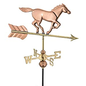 Horse Weathervane - Polished Copper - Deck Mount