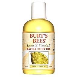 Burt\'s Bees Body & Bath Oil, Lemon & Vitamin E 4 fl oz(pack of 2)