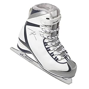 Riedell 625SS White Ladies Ice Skates - Adults Soft Boot Figure Skate by Riedell
