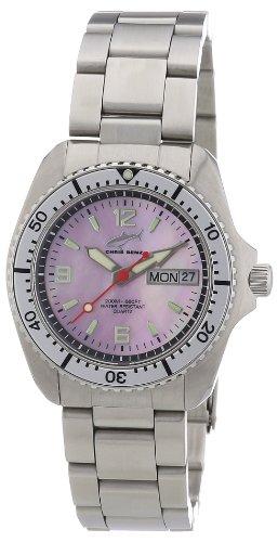 Chris Benz CBM.R.KB.SI - Reloj analógico de cuarzo unisex con correa de caucho, color negro