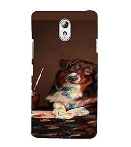PrintVisa Cute Dog Design 3D Hard Polycarbonate Designer Back Case Cover for Lenovo Vibe P1M