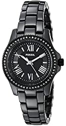 Fossil Women's CE1091 Cecile Three-Hand Ceramic Watch - Black