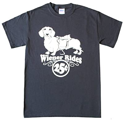 Wiener Rides 25 Cents T-Shirt-Funny Dachshund shirt