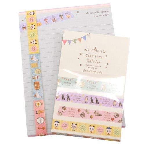9caa2529282ab GOOD TIME HOLIDAY マスキングレターセット(便箋+封筒+シール)可愛いお手紙