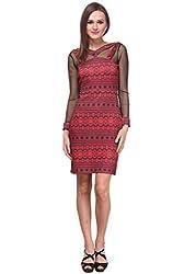 Print Contrast Bodycon Dress