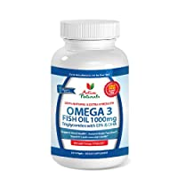 Premium Omega 3 Fish Oil 1000 mg - Extra Strength Omega-3 Triglyceride (TG) Supplement - Activa Naturals Lemon Coated & GMO Free Omega 3 Fish Oil Antioxidant Capsules in Superior Triglyceride Form for 180 Days Supply