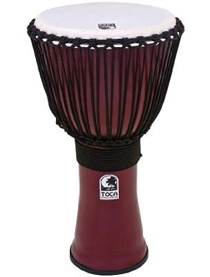 Toca Freestyle II Rope Tuned 12-Inch Djembe - Dark Red Finish