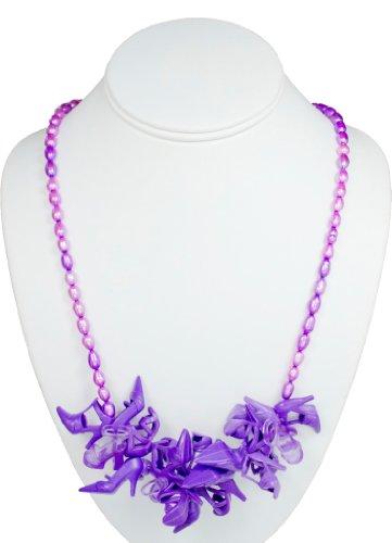 Pearl Bunch Doll Shoe Necklace in Purple/Purple