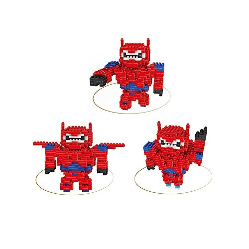 Pack of 2 Total 666pcs Baymax Nanoblock Disney Big Hero 6 Transformative Series Total 6 Shapes