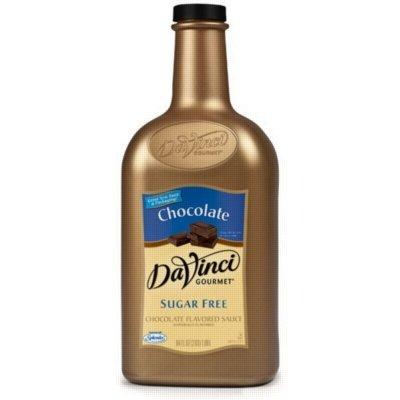 Davinci Gourmet Sugar Free Chocolate Sauce, 1/2 Gallon (Plastic Jug)
