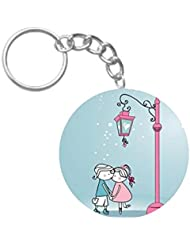 Romantic Love | ShopTwiz Printed Circle Key Ring